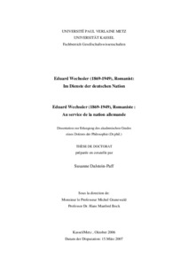 Eduard Wechssler 1869 1949 Romanist Im Dienste Der Deutschen
