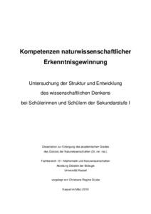kumulative dissertation uni kassel